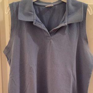 Motherhood Maternity Collared Sleeveless Shirt - L